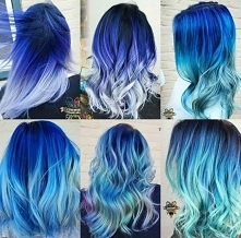 winter blue ombre hair