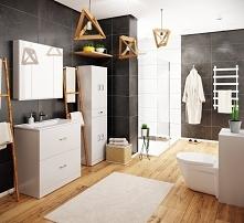 piękna ponadczasowa aranżacja mebli łazienkowych