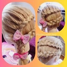 propozycja fryzury dla dziewczynek na zabawę choinkową