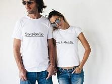 Koszulki dla pary (małżeństwa) z napisami: żonoholik i mężoholiczka