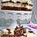 Ciasto budyniowo-czkoloadowo-śmietanowe