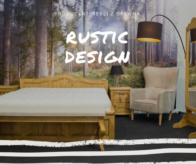 woskowane meble do sypialni z litego drewna