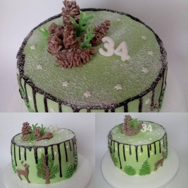 Zimowy tort- niespodzianka na urodziny :)