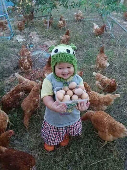 Był bardzo szczęśliwy To jaja (^__^)