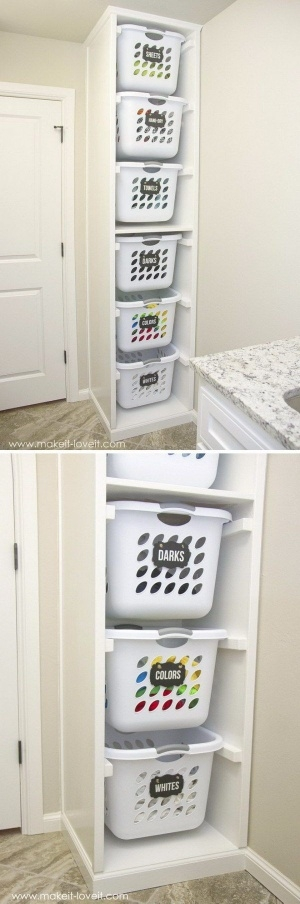 Za malo miejsca,zeby segregowac brudne pranie? Prosty i ciekawy sposob:)