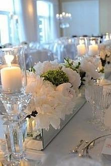 wystrój stołu weselnego