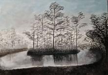 Obraz malowany akrylami na płótnie 50x70 Moja pierwsza taka praca ;)