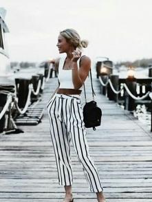 Spodnie z paskami inspiracj...