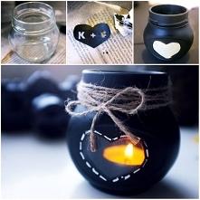 Walentynkowe diy- świecznik