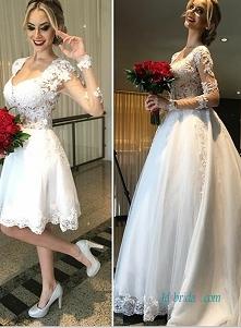 Przedmiot: H0978 Sexy sheer koronkowe stanik dwuczęściowy suknia ślubna sukni...