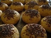 Bułeczki z mielonym siemieniem lnianym