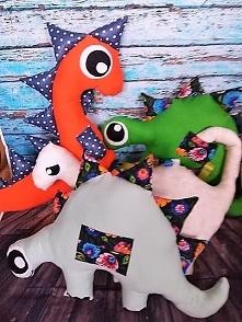 """Ręcznie robione poduszeczki """"Dinozaury"""" dla chłopców  Pomarańczowy ..."""