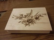 szkatuła, zapraszam na mojego fb Pyrography/pirografia-zdobienie drewna