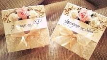 Zaproszenie na Ślub dla Rodziców w formie boxa:) Niezwykle delikatne kolory idealne jako zaproszenie oraz prośba o błogosławieństwo:)