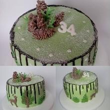 Zimowy tort- niespodzianka ...