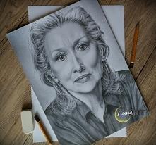 Portret Meryl Streep wykonany ołówkiem :)