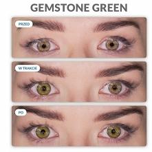 Freshlook Gemstone Green, soczewki pięknie uwydatniające kolor Twoich oczu. Sprawią, że Twoje spojrzenie stanie się bardziej drapieżne. Pełna oferta dostępna na mylenshop_com