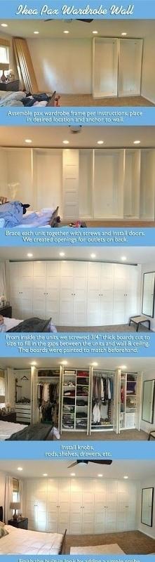 Szafy PAX z IKEA - prosty sposób na organizację ubrań