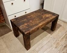 Stół drewniany z sosnowych ...