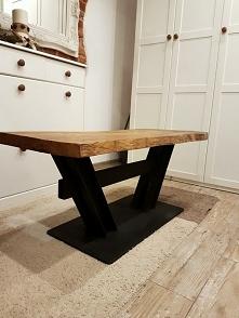 Stół jesionowy z konstrukcy...