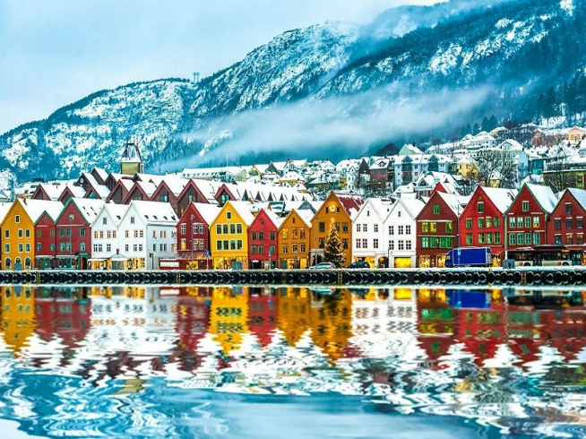 Puzzle dnia! Zapraszamy do układania :)  #puzzle, #gry, #układanka, #krajobraz, #krajobrazy, #Europa, #podróże, #Norwegia, #Bergen
