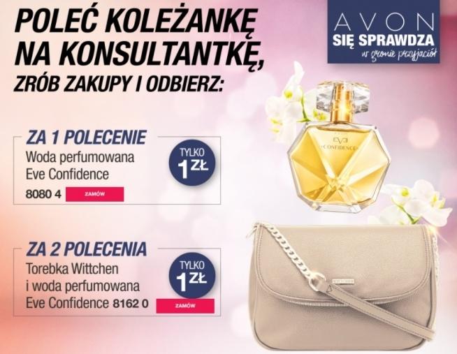 Poleć koleżankę na konsultantkę lub sama nią zostań i zgarnij prezenty!!! Dla nowych osób zaczynających współprace z Avon zestaw kosmetyków w prezencie!!!