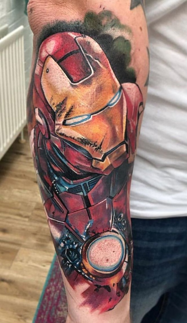 iron man tattoo for men