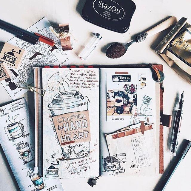 @pastelpaperplane coffee, notebook IG, TWSBI....perfect #twsbi #twsbiart #twsbieco #fountainpen #fountainpens