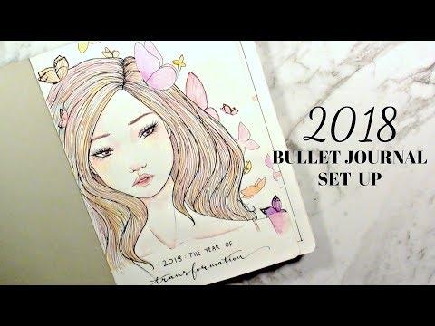2018 Bullet Journal Set Up