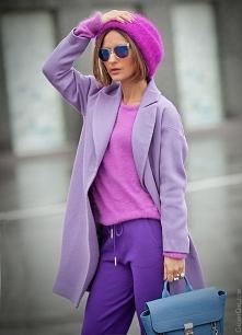 Trendy 2018, stylizacja w odcieniach fioletu