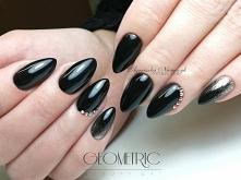 Czarna hybryda Black 1016 i Paint Gel Glitter Silver nr 10 <3