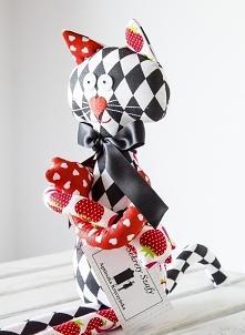zabawka szytezabawki cat pluszaki szmacianki przytulanka zabawki szytekoty rękodzieło dziecko kot handmade