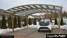 Zadaszenie nad samochód projekt w4 z drewna