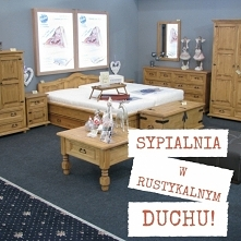rustykalna sypialnia woskowana