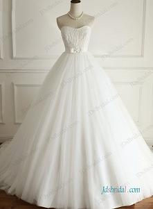 Pozycja: H0950 Piękna suknia ślubna suknia bez ramiączek ognia