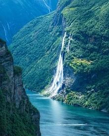 Wodospad 7 Sióstr w Norwegii