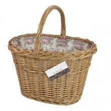 Sklep internetowy moon-pearl poleca: Śliczny wiklinowy koszyk na codzienne zakupy wyściełany materiałem. Po szczegóły zapraszamy na stronę sklepu.