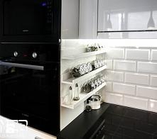 kuchnia, ściana, przyprawniki