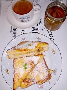 Bananowe tosty we francuskim stylu (na słodko)
