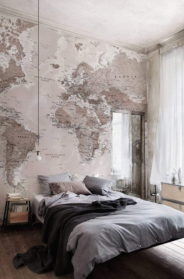 Mapa świata jako tapeta.