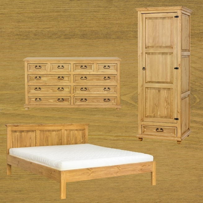 rustykalne meble woskowane do sypialni