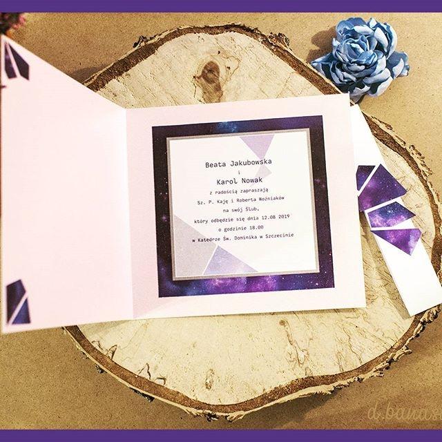 Ultra Violet - zaproszenia w kosmicznym stylu