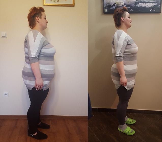 a to mega szacun dla Eweliny, która tak wygląda po 4 tygodniach mojej diety + ćwiczenia ;)