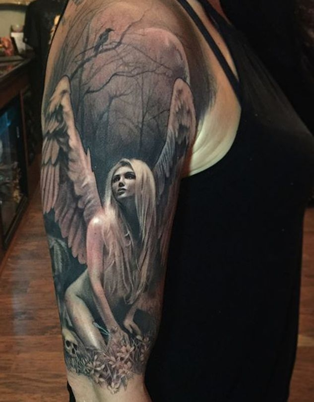 Anioł Tatuaż Z Kobietą Na Tatuaże Zszywkapl