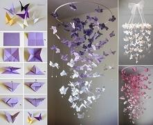 Bajecznie wyglądające motylki z papieru!