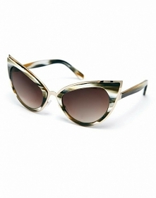 ASOS Handmade Acetate Cat Eye Sunglasses With Metal Bridge Detail