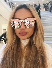 Pink with mirror lenses and...