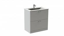 praktyczna szafka pod umywalkę - biały wysoki połysk.