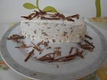 Semifreddo z mascarpone, czekoladą i biszkoptami