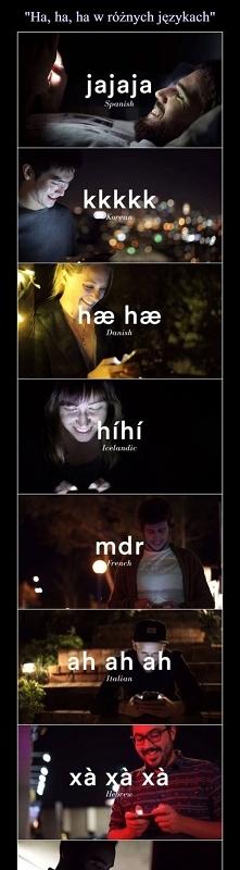 """""""Ha ha"""" w różnych..."""